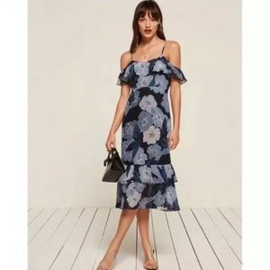 NWT Reformation Odessa Dress Floral Fontaine Midi
